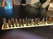 1 Lot Antique Lead And Tin Toy Soldiers