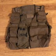 Usaf Military Us Air Force Survival Aircrew Vest Coyote Brown Snap-track Afsoc