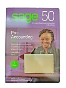 New Sage 50 Pro Accounting 2020 Software Usa Windows 7/8.1/10 Sealed Retail Case