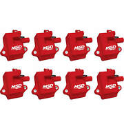Msd Ignition Pro Power Coils For 97-04 Gm Ls1/ls6 Engines 82858 Red 8-pack New