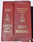 Sherwin Williams Automotive Finishes Color Manuals 1965 To 1972 Muscle Car Era
