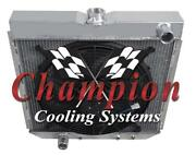 3 Row Sz Champion Radiator W/ 16 Fan For 1967 68 69 1970 Ford Mustang L6 Engine