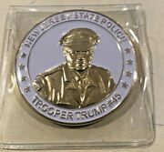 New Jersey Njsp State Police President Trump Challenge Coin , White