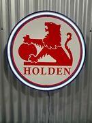 Holden Retro Lion Red 700mm Diameter Neon Sign Perfect Hot Rod Man Cave