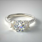 0.90 Carat New Real Diamond Engagement Rings For Women 950 Platinum Size 6.5 7 8