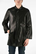 Prada Men Coats And Trench Soft Leather Reversible Trench With Zip Closure
