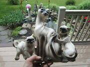 Lane And Co 1963 Siamese Cat Of 3 W Blue Eyes Tv Lamp Light