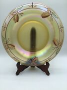 """Vintage Fenton Art Glass Hand Painted Butterfly Millennium Collection 10"""" Bowl"""