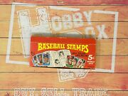 1969 Topps Baseball Stamps Chewing Gum Original Vintage Display Box Only Mint