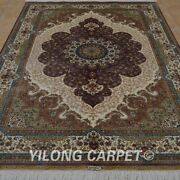 Yilong 5and039x7.5and039 Handwoven Silk Carpet Antistatic Home Decor Floral Area Rug 0190