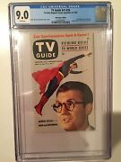 Tv Guide Vol 1 26 Cgc 9.0 Superman 9/25/53 White Pages - Gorgeous Rare