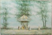 Beautiful Vintage French Impressionist Oil Painting Landscape Signed Dubois