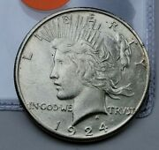 1924-s Peace Dollar 90 Silver Us Collectible Numismatic Coin C63