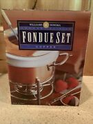 Williams Sonoma Grand Cuisine Copper And Porcelain Fondue Set By Ruffoni Italy