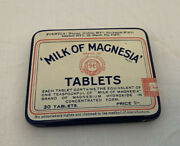 Vintage Milk Of Magnesia Tablets Tin Case 6d Chas Phillips Medicine Contents