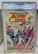 Action Comics 252 1959 Cgc 2.5 - 1st Appearance Of Supergirl And Metallo Dc Key