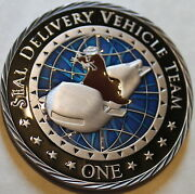 Sub Seal Delivery Vehicle Team One Sdvt-1 Sea Warriors Navy Challenge Coin