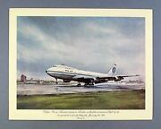 Pan Am Vintage First Class Airline Menu Boeing 747 Clipper Young America London