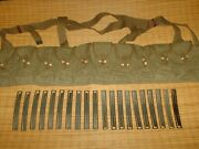Sks Chinese Green Canvas Bandoleer Plus 20 Stripper Clips Phosphated