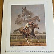 Fred Stone / Cigar And Man Oand039 War And Secretariat / Signed A/p