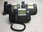 Lot Of 3 Polycom Soundpoint Ip550 Business Phones W/ Handsets And Stands