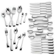 Lenox Lakedale 72 Piece Flatware Set Service For 12 Stainless 18/10 Modern New