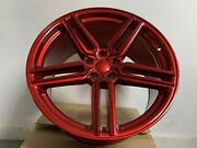 20 Candy Red Staggered Hybrid Style Rims Wheels Fits Honda Accord
