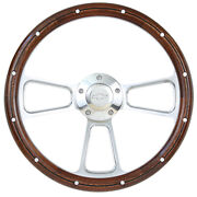 14 Real Wood And Polished Muscle Steering Wheel Chevrolet Truck 1948 - 2002