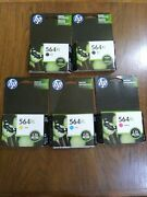 5-pack Hp Genuine 564xl Black And Color Ink Exp 2015 And 2018 Photosmart 7525