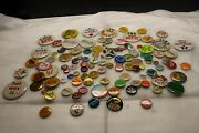 Huge Lot Of Vintage Collectible Pin Back Buttons