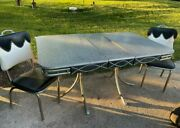 Vintage Retro 1950s Formica And Chrome Kitchen Table And Chair Set