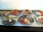 Knowles Collectors Plates Little Orphan Annie Set Of 7 New