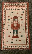 Vintage Nutcracker Tapestry Holiday Christmas Woven Throw Blanket 23 X 39