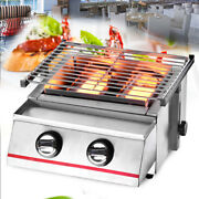 For Outdoor Camping 2 Burner Gas Cooker Bbq Grill Stove Picnic Barbecue Grill Us