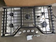 Kitchenaid Kcgs356ess 36 Stainless Steel Natural Gas Cooktop Nob 112301