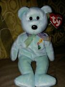 Donation Arieland039s Flower Aids Fund Tags Bear Ty Beanie Baby Retired Rare Mint+