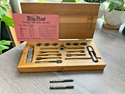 Blue Point Td-2500 Tap And Die Set, By Snap-on, Wooden Box A3
