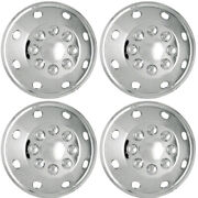 New Set Of 4, 16 Inch Silver 8 Hole Aftermarket Wheel Covers