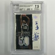 2003-04 Exquisite David Robinson Number Pieces Patch Auto 12/50 Bgs 7.5/10