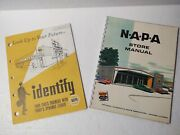 Vintage Napa Auto Catalogs And Store Signage And Owners Guide
