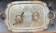 Large Silverplate Waiter Tray Remembrance 1847 Rogers Bros 22 In.