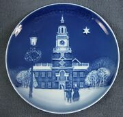 Bing And Grondahl Christmas In America 1991 Independence Hall Collector Plate