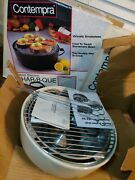 Open Box Contempra Indoor Electric Char-b-que Barbecue Grill Ecb-25 W/skewers