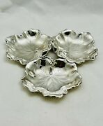 Vintage American Reed And Barton Triple Sterling Silver Leaf Dish 1956