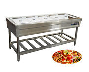 Techtongda 110v 5 Pan Buffet Food Warmer Stainless Steel For Cafeterias Etc.