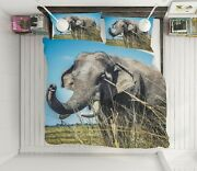 3d Elephant N1616 Animal Bed Pillowcases Quilt Duvet Cover Queen King Fay
