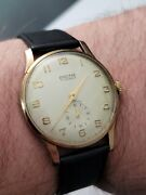 Baume 9ct Gold Vintage Watch 1965 Manchester Ship Canal Presentation