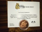 Official 2014 Shibe Mint Dogecoin Rare Physical Coin And039dogecarand039 Edition With Coa