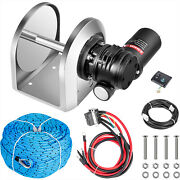 Vevor 0.2x148and039 Electric Anchor Winchdrum Winch Tw180 5500lb Load Rope Full Kit