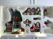 Department 56 Heritage Village Collection Peppermint Skating Party